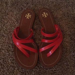 Burnt orange Tory Burch sandals